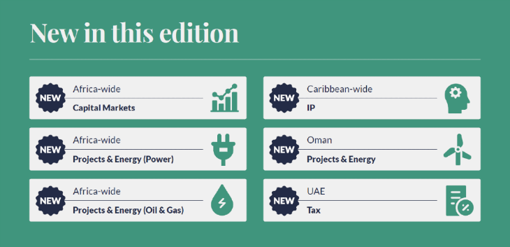 Chambers Global infographic - new in this edition