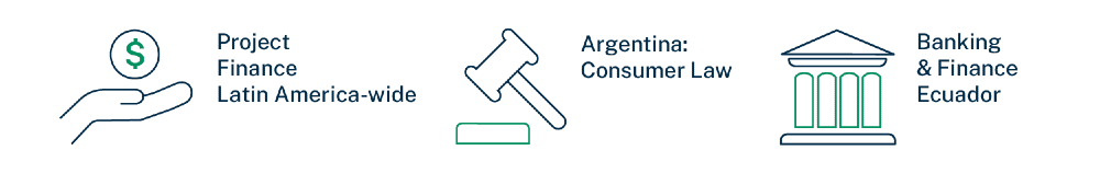 Infographic of the new practice areas in Chambers Latin America 2021